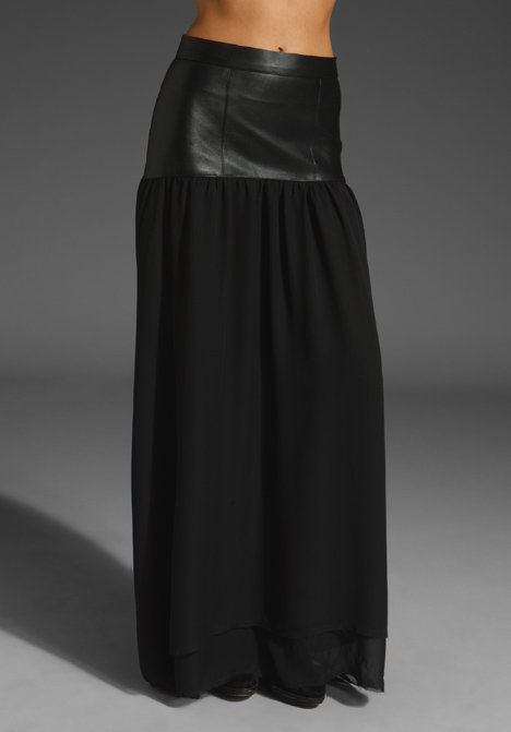 Patterson J. Kincaid Stretch Leather Dalston Long Skirt