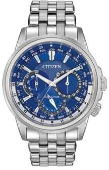Citizen Mens Calendrier Eco-Drive Stainless Steel Bracelet Watch