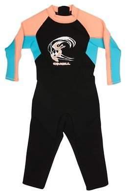O'Neill New Surf Boys Toddler Reactor Full 2Mm Steamer Neoprene Black Aqua 1