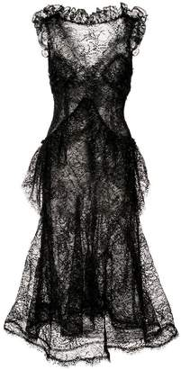 Rodarte sheer structured dress