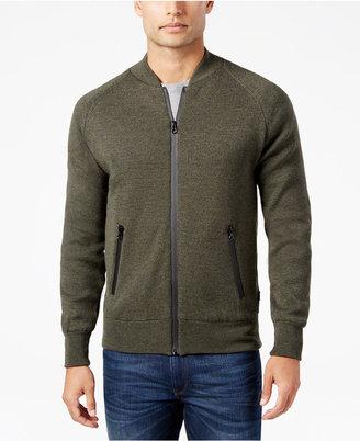 Barbour Men's Heathered Zip-Front Sweater $249 thestylecure.com