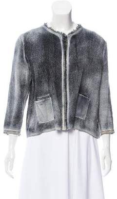 Avant Toi Distressed Open Front Cardigan