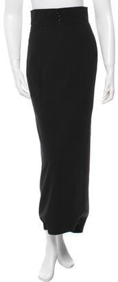 Jean Paul Gaultier Wool Maxi Skirt $115 thestylecure.com
