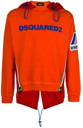 DSQUARED2 K-Way hooded sweatshirt