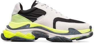 Balenciaga fluorescent triple s trainers