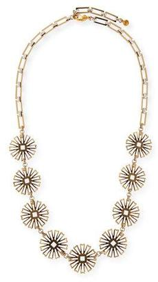 """Lulu Frost Daisy Long Floral-Station Necklace, 34.5"""" $325 thestylecure.com"""