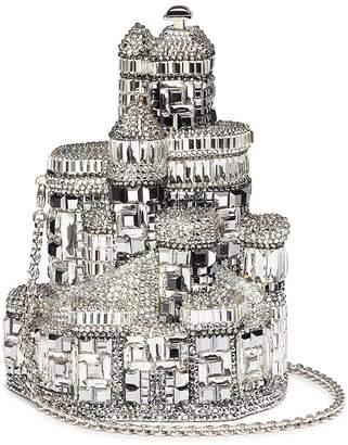 Judith Leiber 'Ice Castle' crystal pavé minaudière