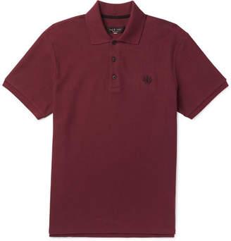 Rag & Bone Cotton-Piqué Polo Shirt