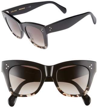 Celine 50mm Gradient Butterfly Sunglasses
