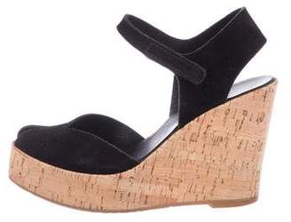 Pedro Garcia Suede Ankle Strap Wedges