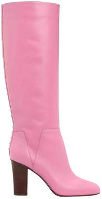 Valentino Pink Leather Boots