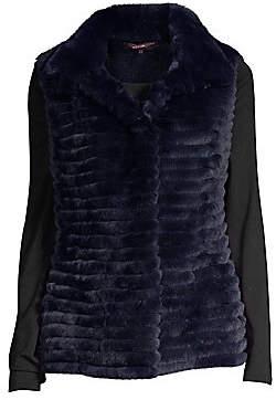 Glamour Puss Glamourpuss Women's Rabbit Fur & Cashmere Knit Vest
