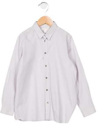 Marie Chantal Marie-Chantal Girls' Long Sleeve Button-Up Blouse