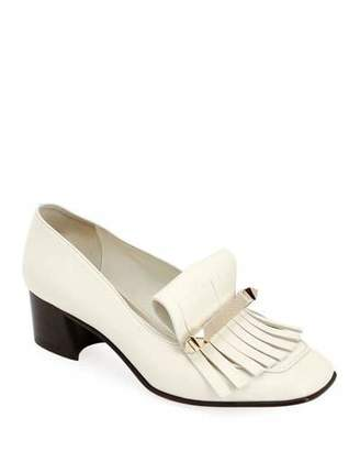 Valentino Uptown Kitten-Heel Kiltie Loafers