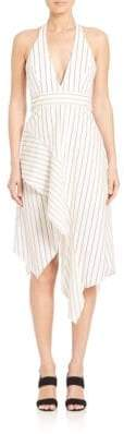 Nicholas N Stripe Halter Ruffle Dress