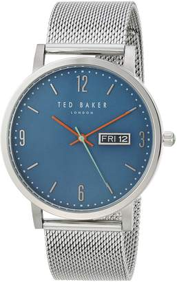 Ted Baker Men's 'GRANT' Quartz Stainless Steel Casual Watch, Color Silver-Toned (Model: TE15196013)