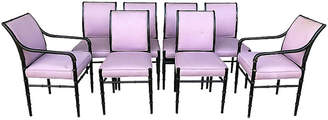 One Kings Lane Vintage 1960s Faux-Bamboo Dining Chairs - Set of 8