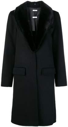 P.A.R.O.S.H. fur trimmed coat