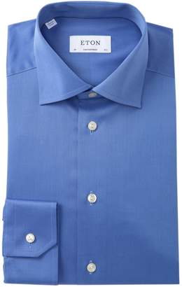Eton Solid Twill Contemporary Fit Dress Shirt