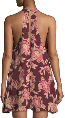 Show Me Your Mumu Tess Tie-Neck A-line Dress
