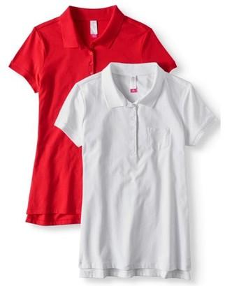 No Boundaries Juniors' Short Sleeve Polo 2-Pack