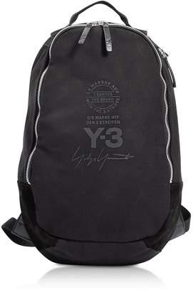 Y-3 Y 3 Black Signature Nylon Backpack