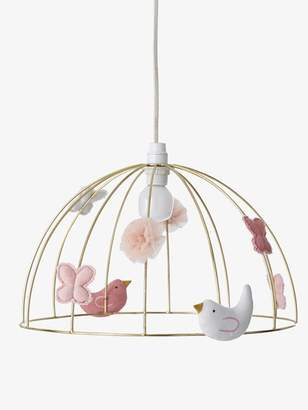 Birdcage Hanging Lampshade - yellow light solid with design