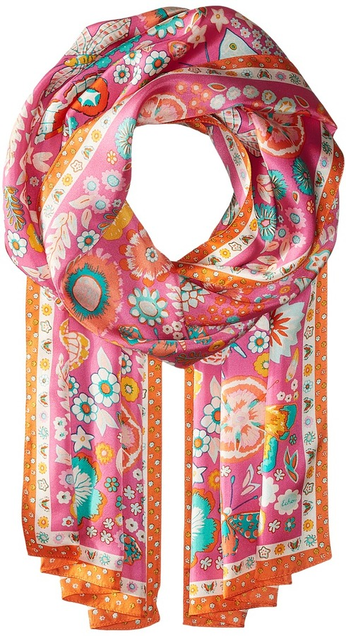 Echo Design Butterfly Silk Oblong Scarf