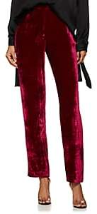 Masscob Women's Beaumont Velvet Flat-Front Trousers - Wine