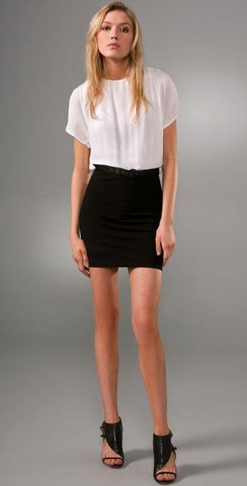 Alice + Olivia Donna Drop Shoulder Dress with Belt
