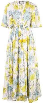 Alexis floral print maxi dress