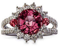 Rob-ert Robert Erich Burma Pink Spinel Ring with Diamonds