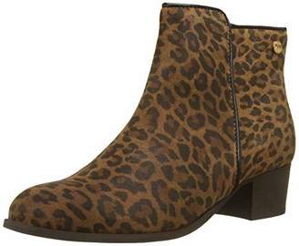 Le Temps Des Cerises Women's Zoe Ankle Boots, Brown Leopard