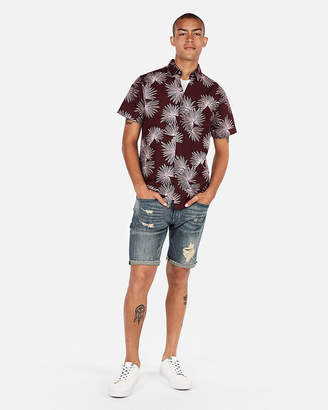 Express Slim Floral Button-Down Shirt