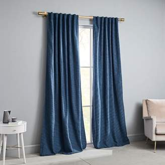 west elm Textured Weave Curtain + Blackout Lining - Shadow Blue