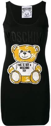 Moschino Sketch Bear tank dress