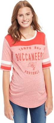 Motherhood Maternity Tampa Bay Buccaneers NFL Elbow Sleeve Maternity Graphic Tee