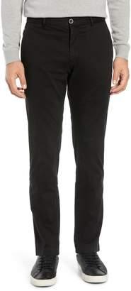 Bugatchi Garment Dye Flat Front Straight Leg Chino Pants