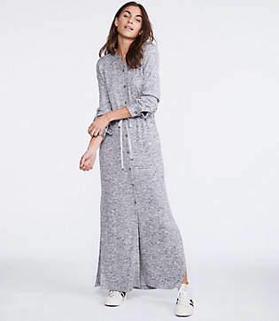 Lou & Grey Brushmarl Maxi Shirtdress