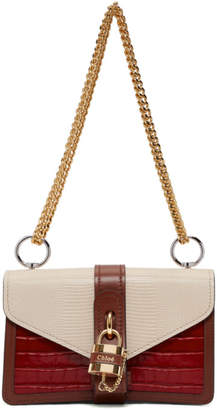 Chloé Red and Pink Aby Chain Bag