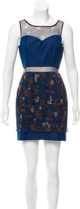 Timo Weiland Silk-Paneled Mini Dress