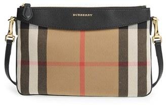 Burberry 'Peyton - House Check' Crossbody Bag - Black $625 thestylecure.com