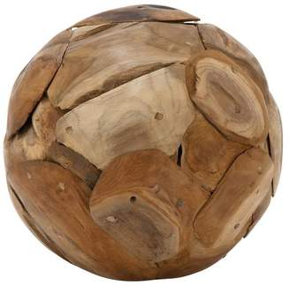 Benzara Teak Wood Ball Decor