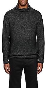 John Varvatos Men's Cotton-Blend Mock Turtleneck Sweater - Black