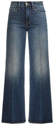 Frame Le Palazzo Wide Leg Jeans - Womens - Dark Blue