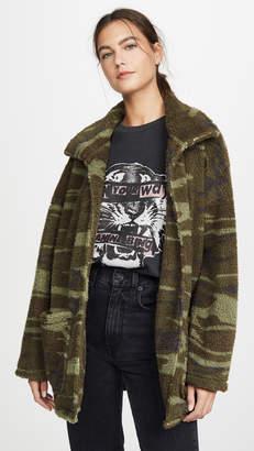 Z Supply Camo Sherpa Jacket