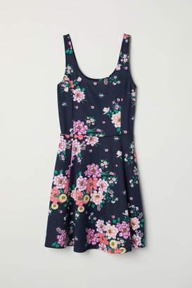 H&M Jersey Dress - Black/white patterned - Women