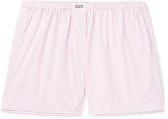Les Girls Les Boys - Striped Cotton Boxer Shorts - Men - Pink