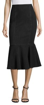 Michael Kors Collection Denim Trumpet Skirt