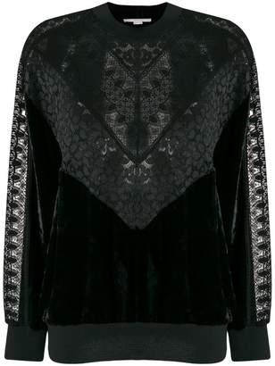 Stella McCartney lace and velvet sweatshirt